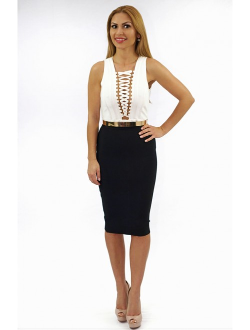 Black Pencil Bandage Skirt