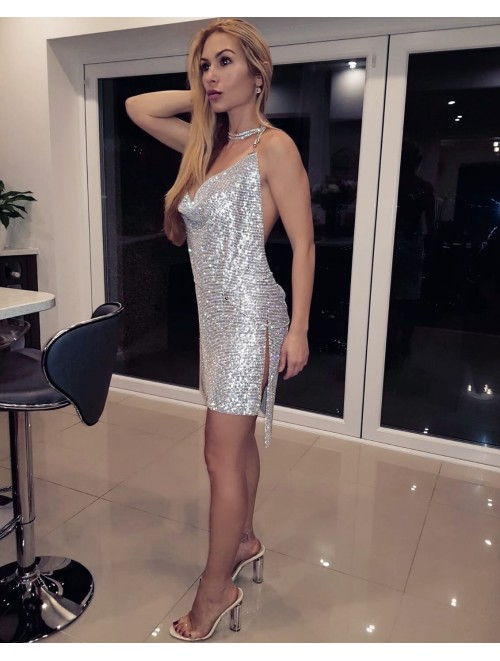 "Silver Crystal ""Aleksa"" Dress"
