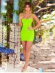 """Danny"" Neon Green Bandage Dress"