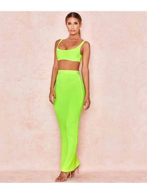 Neon Green Two Pieces Bandage Set